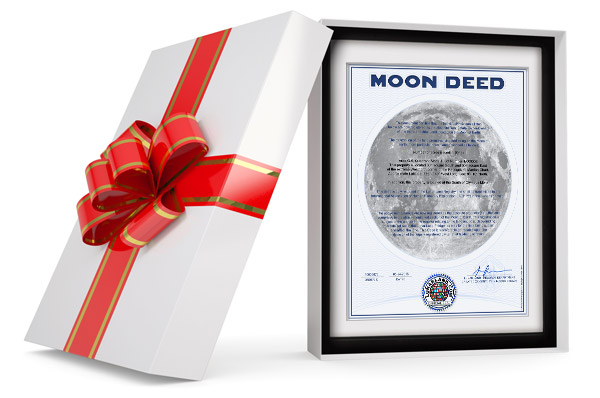 moon land gift wrapped