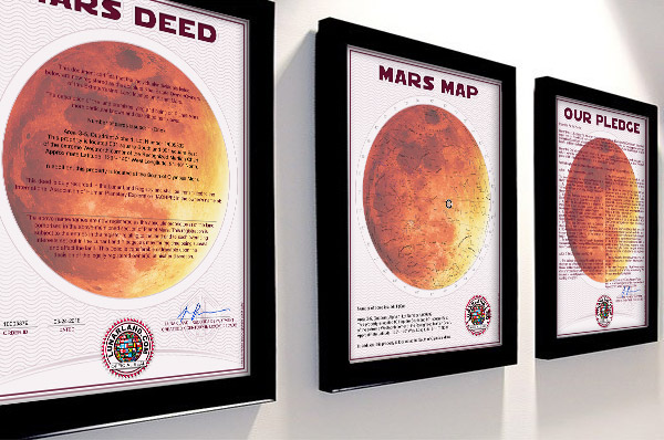 Buy Mars deed framed