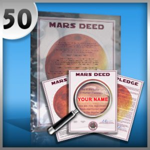 planet mars land buy 50 acres