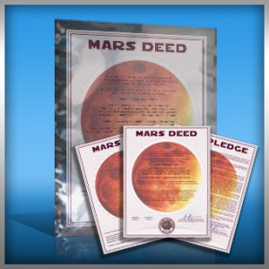 planet mars land buy standard gift package