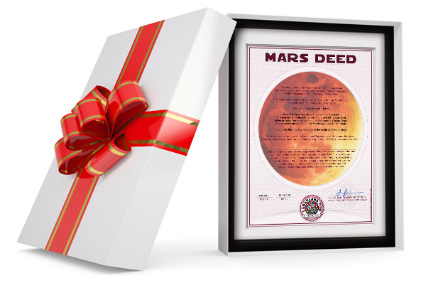 planet mars land gift wrapped