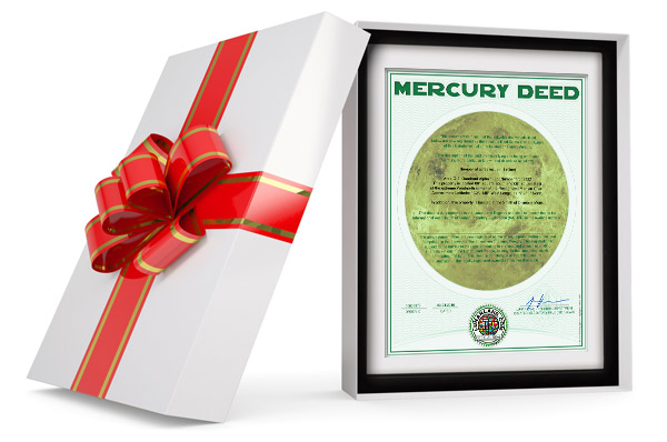 planet mercury land gift wrapped